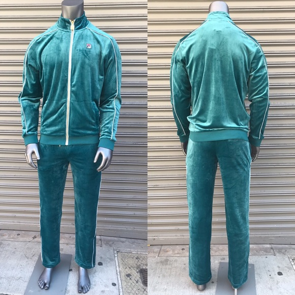 Fila Other Mens Teal Velour Tracksuit Poshmark